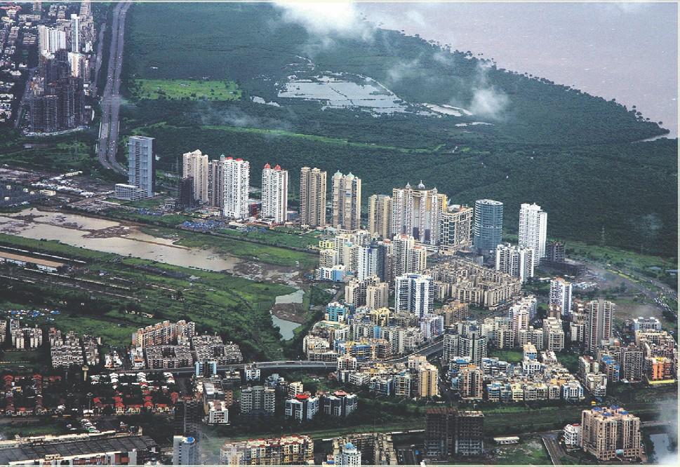 В сградите ще се помещават жилища и офиси, плувни басейни, игрища за крикет и градини, разположени на различни нива