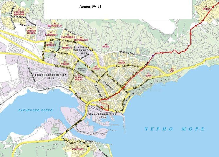 Karta Varna Vinica Stroitel